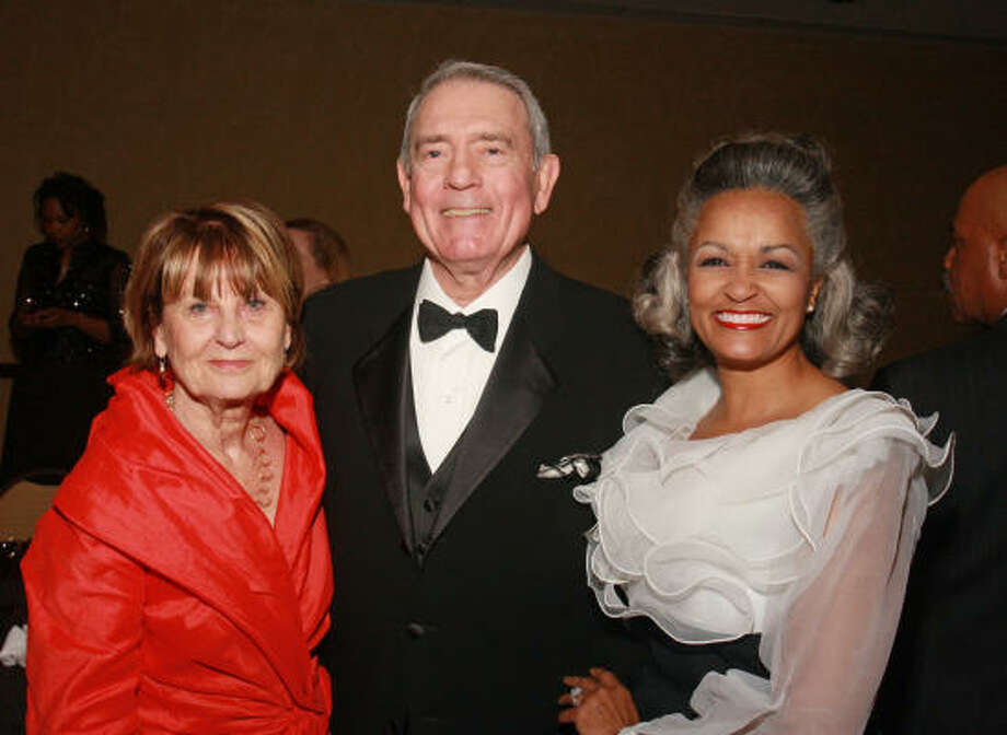 Jean and Dan Rather, from left, with Casey McKinney at the Houston Works 25th Anniversary Gala. Click here for a report on the event. Photo: Gary Fountain, For The Chronicle