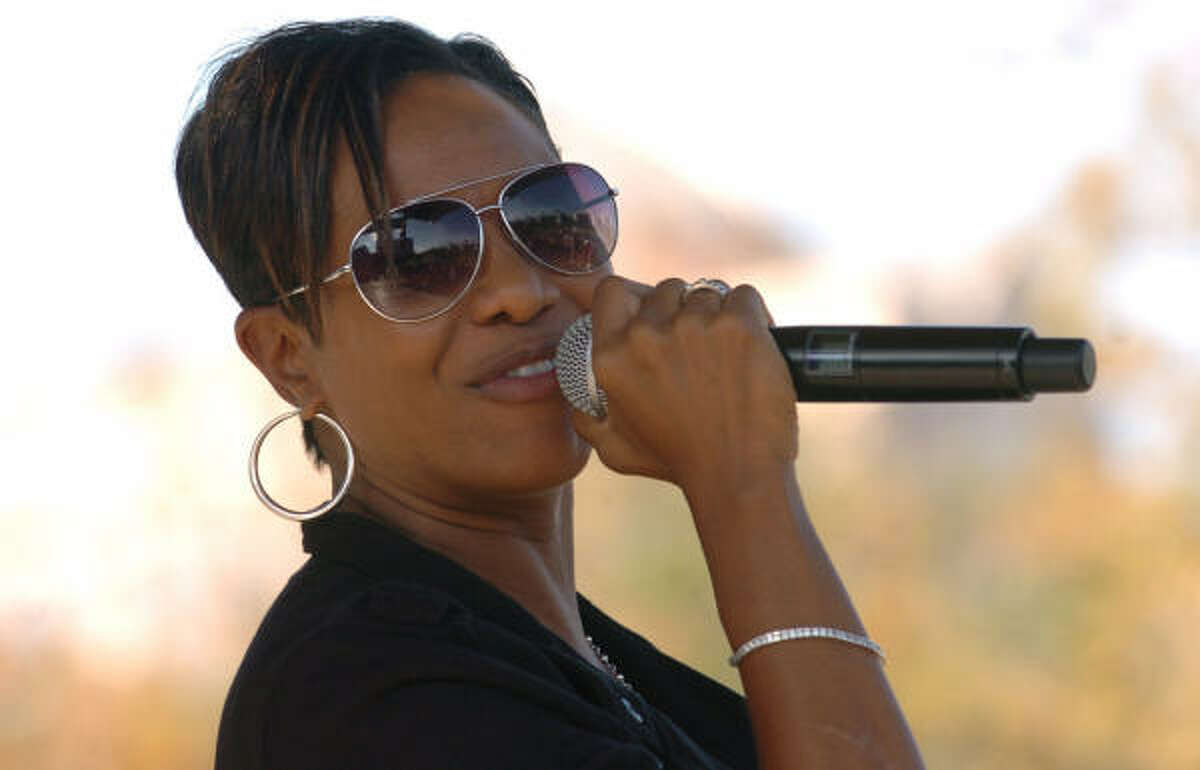 Hip Hop Artist MC Lyte performs in front of a Houston crowd.