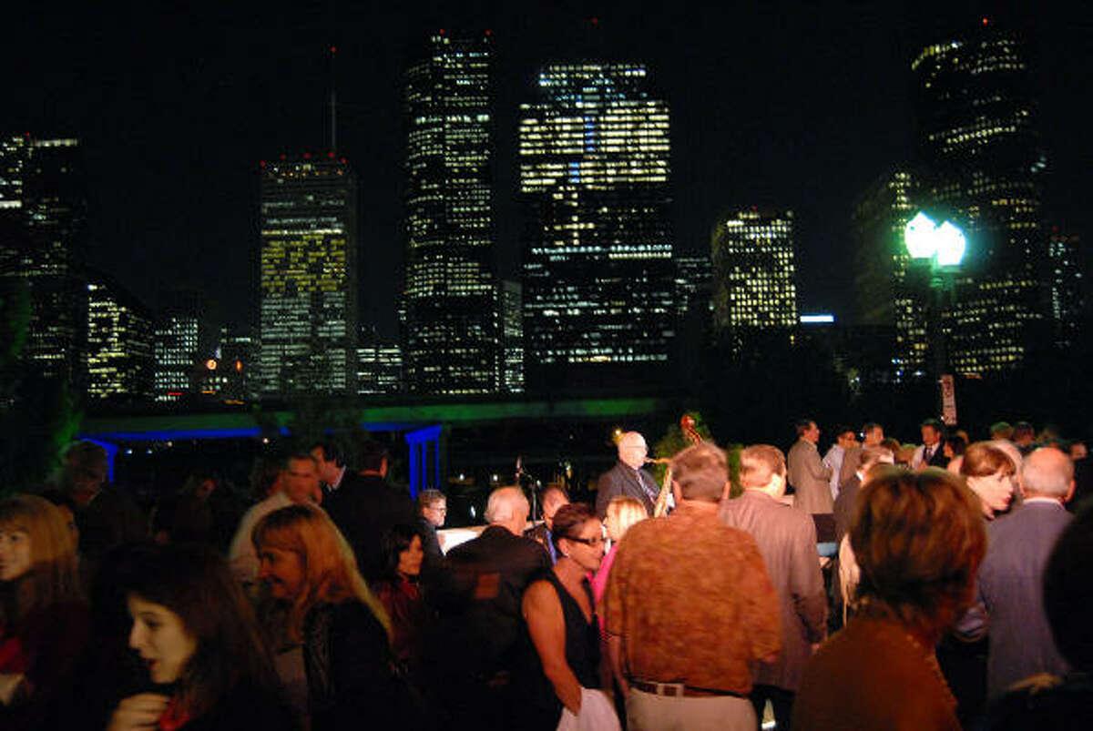 The scene at the Buffalo Bayou Partnership's annual Ball on the Sabine St. Bridge on Nov. 5.