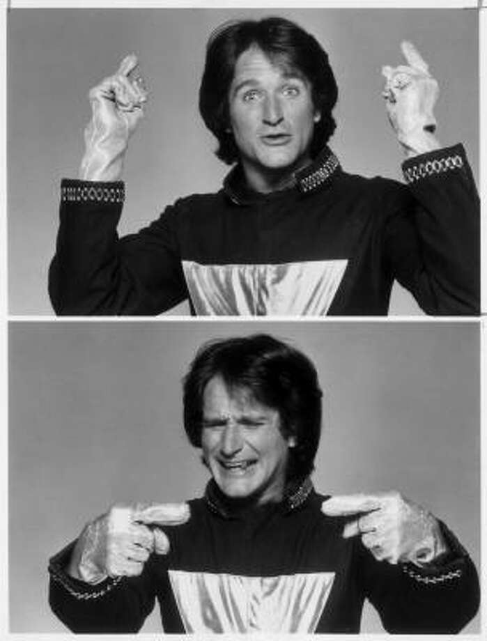 Mork & Mindy is a comedy about a spaceman who meets a young earthling named Mindy while on a mission to Earth. Photo: Abc