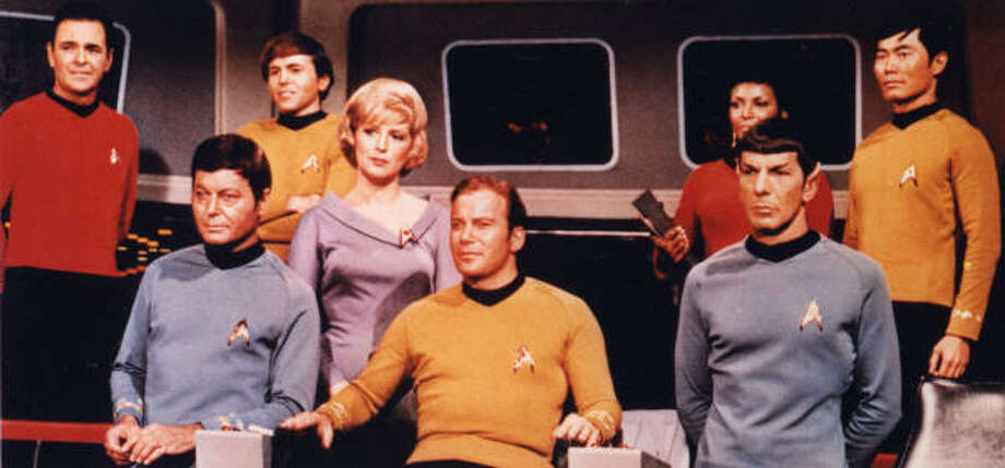 Star Trek is a series following the interstellar adventures of Captain James T. Kirk and the crew of the Federation Starship Enterprise.