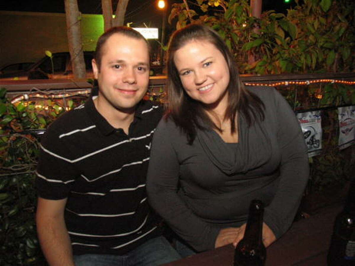 With one of the best patios in town, Onion Creek is a great place to grab a beer and dinner for a relaxing night out. Pictured: Cody Meunster, left, and Melinda Tackett