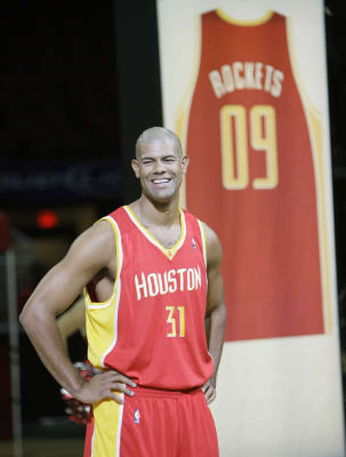 Unveiled in September, the Rockets' newest jerseys will serve as an occasional alternative to the team's current red-and-white combinations.