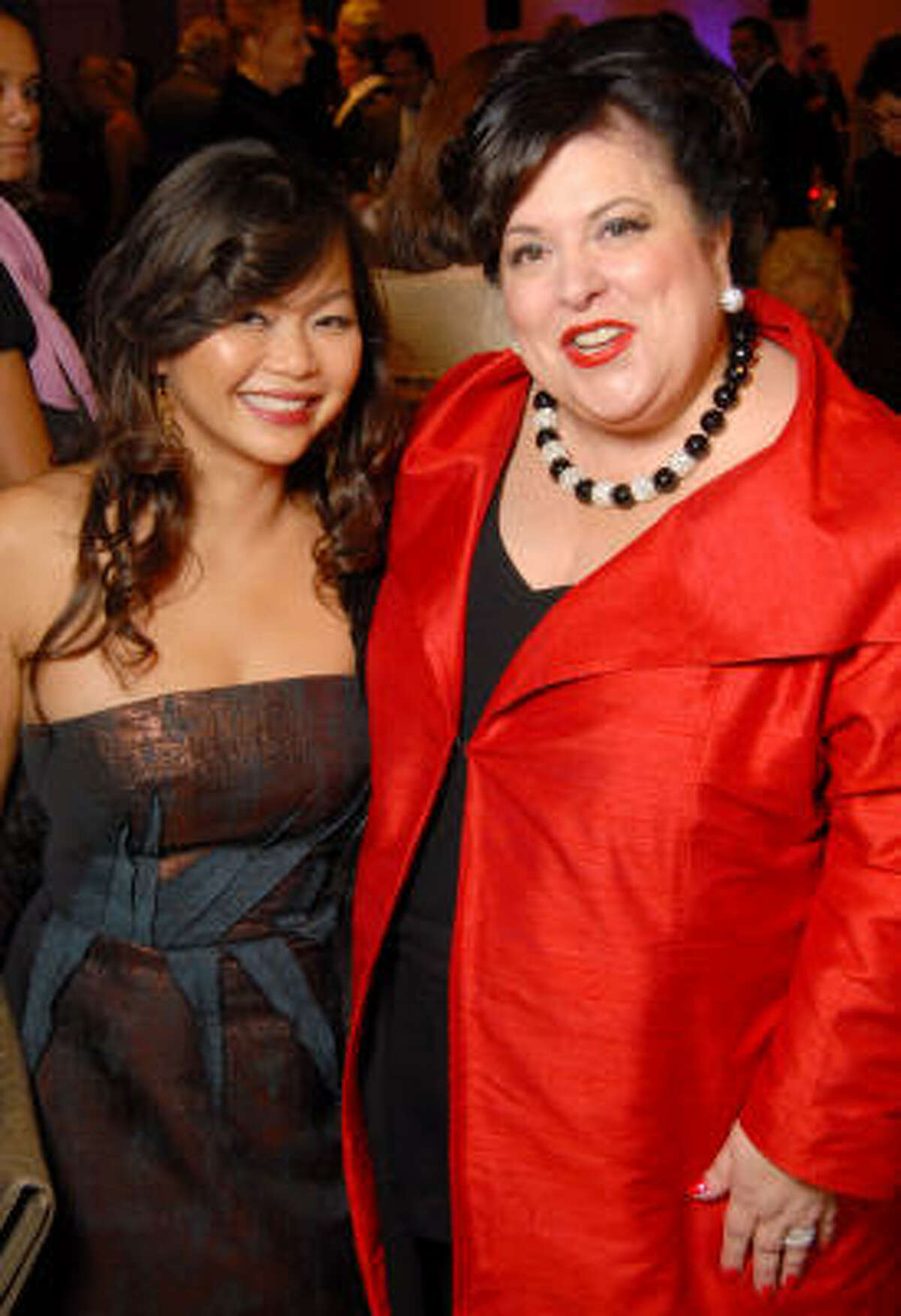 Honorees Chloe Dao and Gayla Bentley at the Night of Stars Gala honoring Houston's top fashion designers at the Junior League of Houston on Nov. 3.
