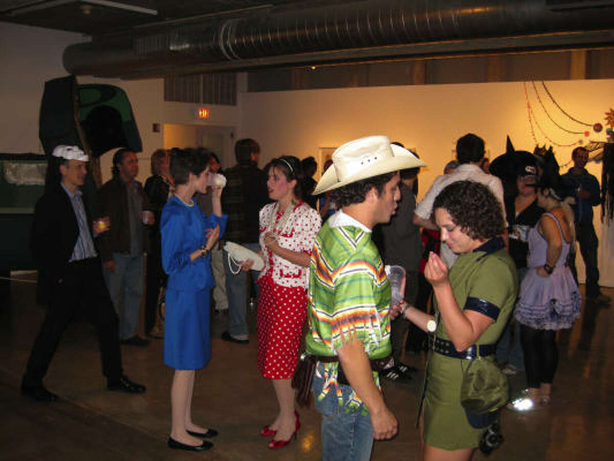 The Oct. 30 edition of the monthly Steel Lounge Underground event at the Contemporary Arts Museum Houston drew its share of costumed partiers.