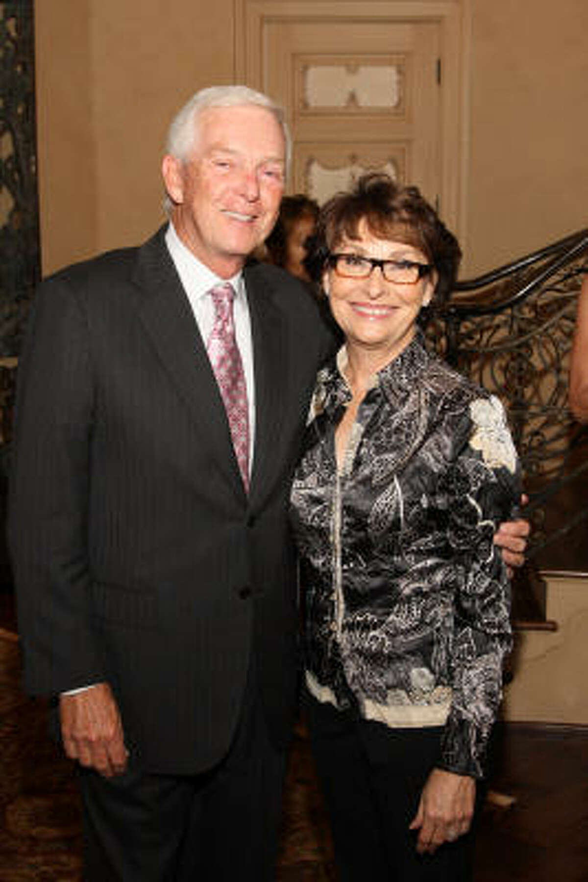Jerry and Linda Strickland at the Home Safe Home event Oct. 29 at the home of Sue and Lester Smith benefiting Aid to Victims of Domestic Abuse.