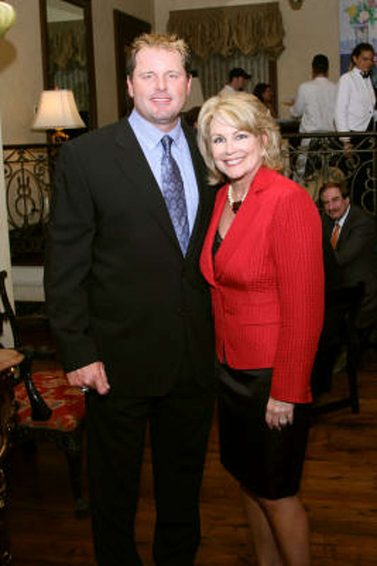 Roger Clemens and Jan Carson