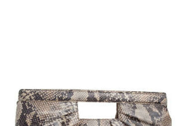 Tuck a trendy clutch such as this one by Alfani from Macy's into your briefcase for lunches outside the office. Animal prints are fine in small doses for daytime.
