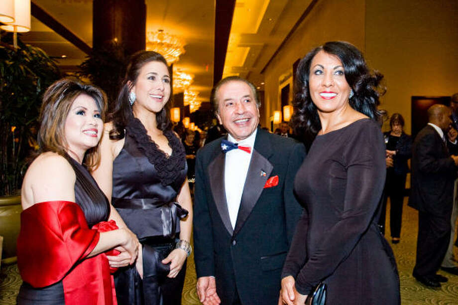 Maime Ballard, from left, Elizabeth Lopez, Farouk Shami and Karen Lowe Photo: Grady Carter