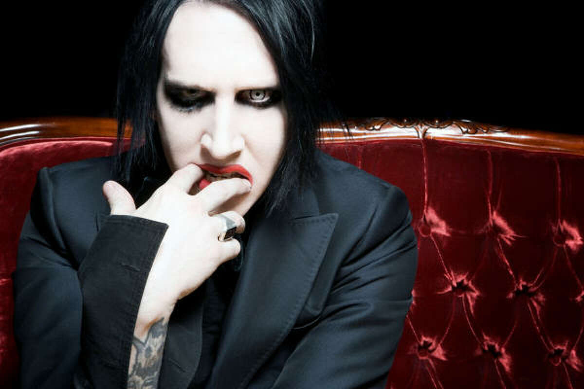 Marilyn Manson's over the top make-up and music are the epitome of creepy.