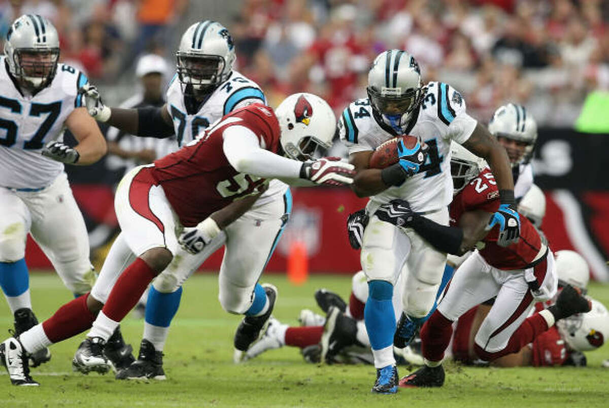 Nov. 1: Panthers 34, Cardinals 21 Panthers running back DeAngelo Williams (34) rushed for 158 yards.