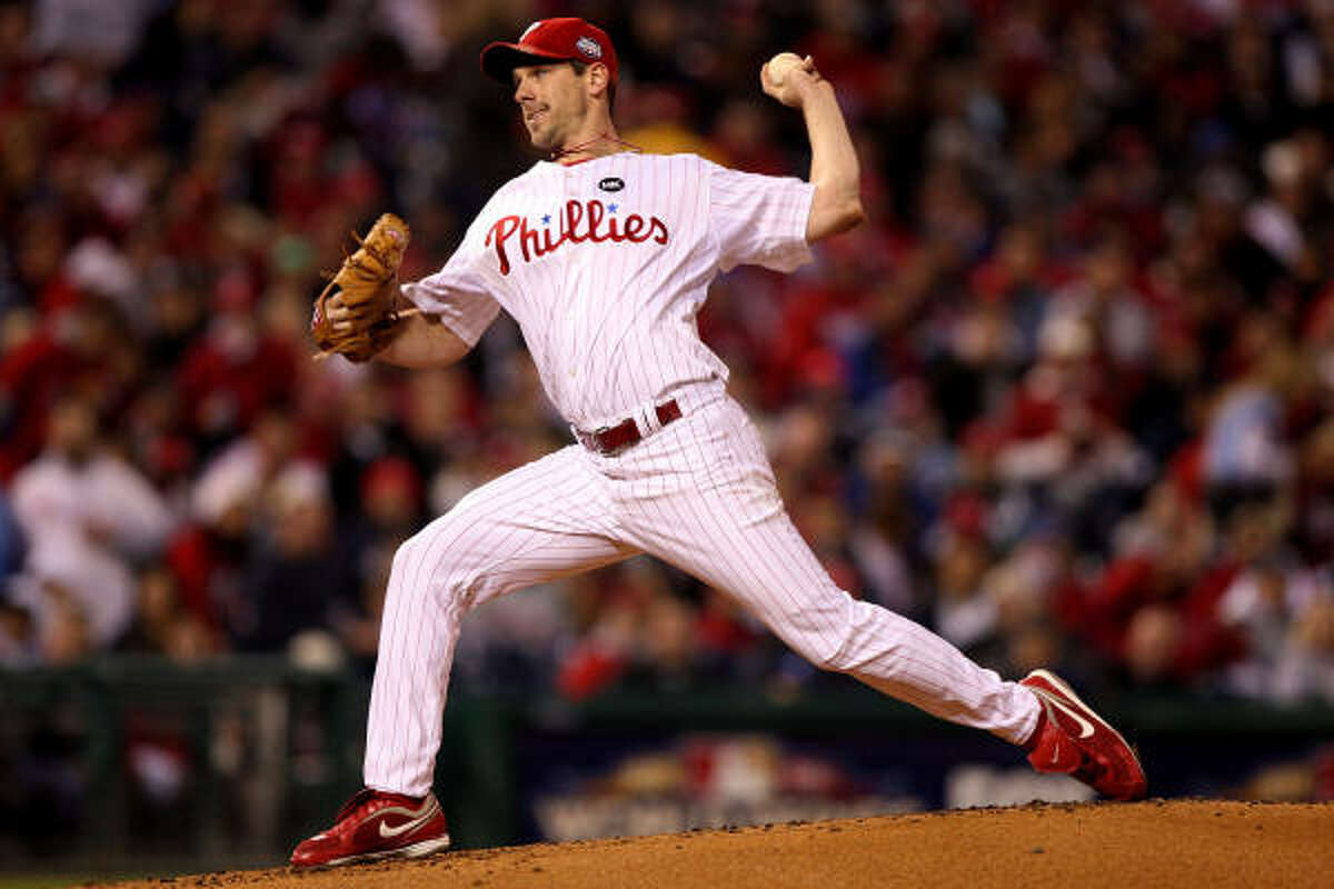 Game 5: Phillies 8, Yankees 6 Phillies starting pitcher Cliff Lee gave up five runs and allowed seven hits in seven innings of work.
