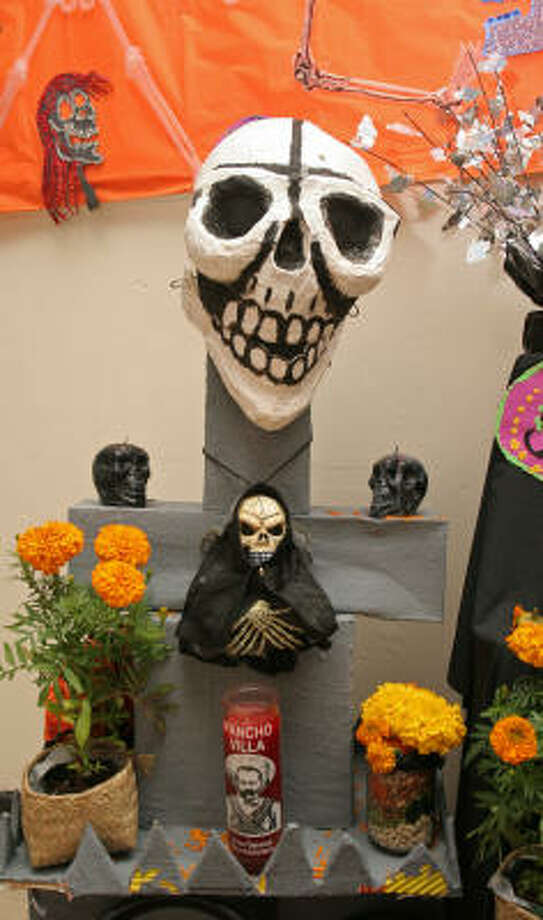 See Day of the Dead art at the MECA Dia de los Muertos: Honoring our Past, Celebrating Our Future event this weekend. The festival runs Oct. 31- Nov. 1. For more information visit http://www.meca-houston.org/dotd/index.html. Photo: Gary Fountain, For The Chronicle