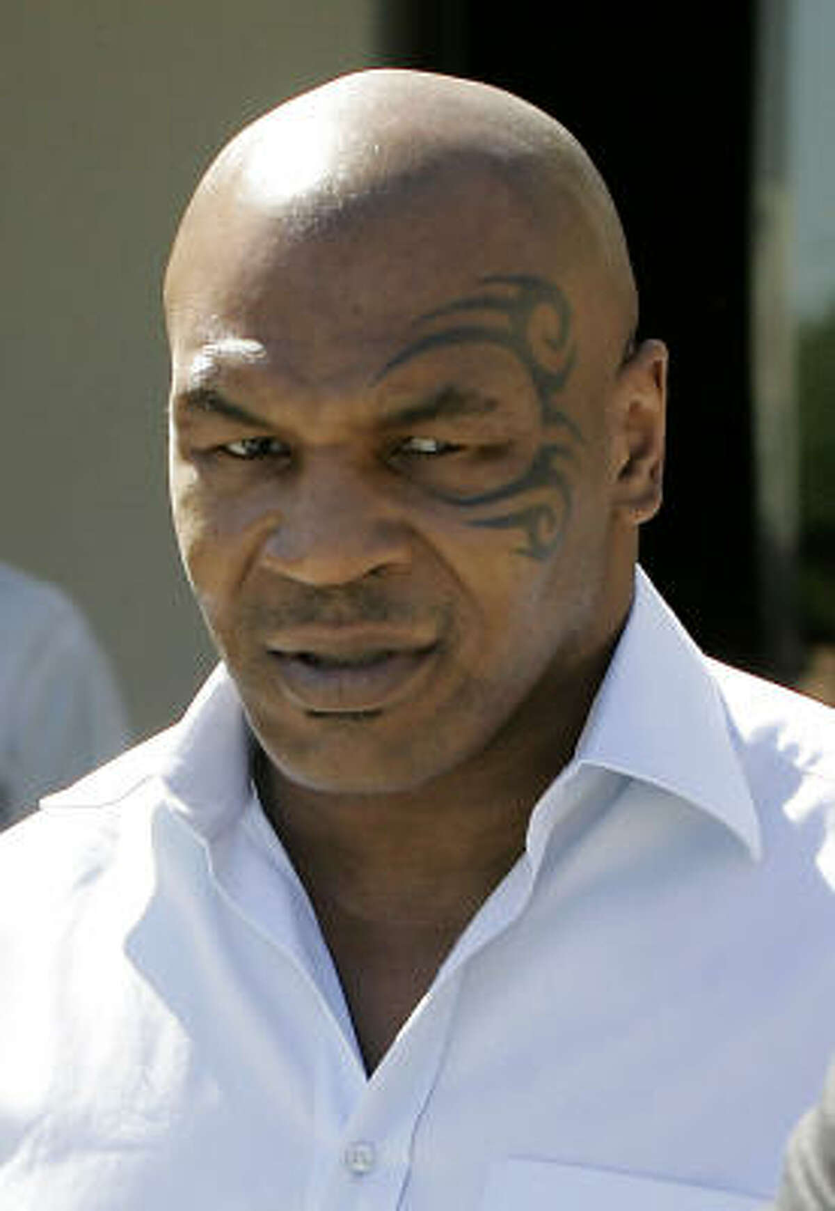 Mike Tyson, former boxer His permanent mask says it all. Be careful, because candy isn't the only thing he might take a bite out of.