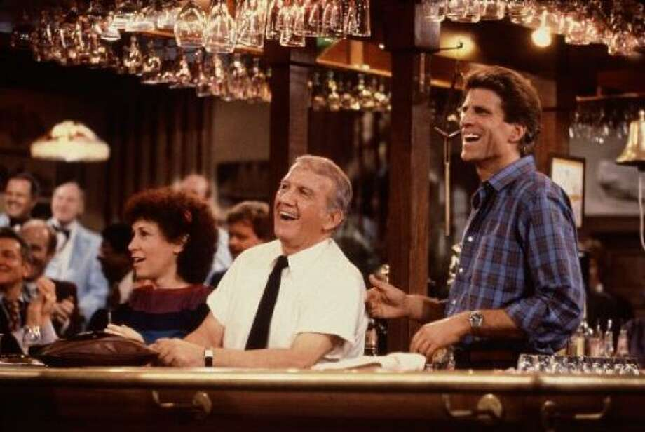 Confirmed: Ted Danson, right, famously wore a toupee in his 'Cheers' days. Photo: NBC