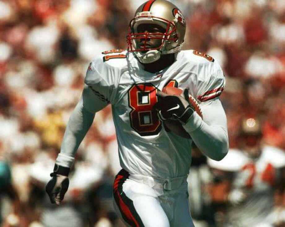 1996:Terrell Owens, who was drafted by the San Francisco 49ers in the third round out of Chattanooga, had a nice rookie campaign, catching 35 passes for 520 yards and four touchdowns. Photo: SUSAN RAGAN, AP