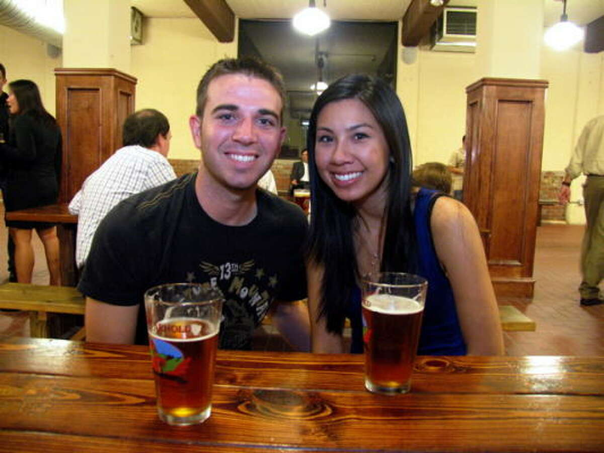 Erik Hale, left, and Tracy Hoang