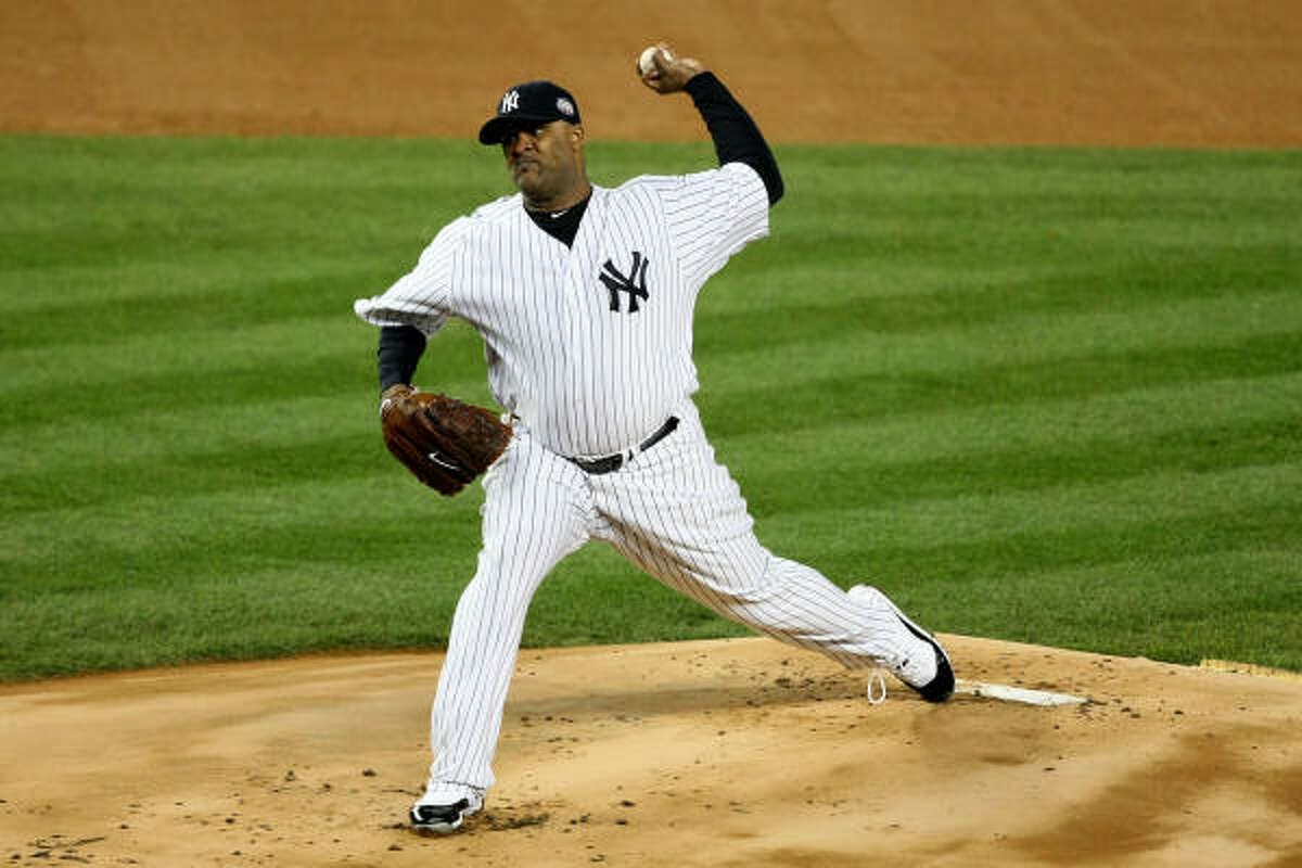 Yankees starting pitcher CC Sabathia gave up two runs and allowed four hit in seven innings of work. The runs came from Phillies infielder Chase Utley's two solo home runs.