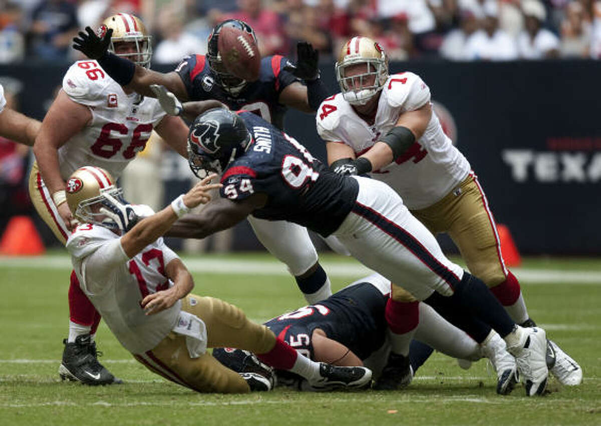 RISING: Defensive end Mario Williams Williams had a sack and another tackle for a loss in Sunday's 24-21 victory.