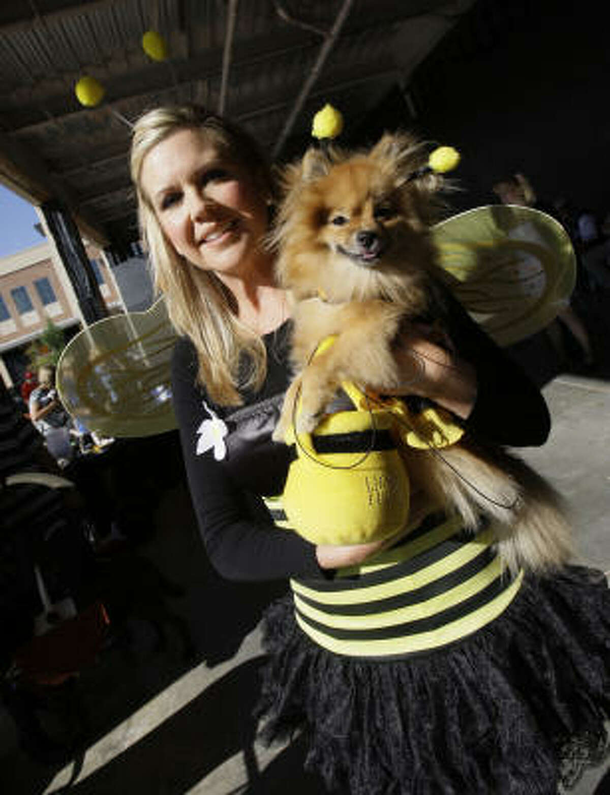 When in doubt, dressing as a bee, ladybug or butterfly are always a cute, non-spooky costume idea.