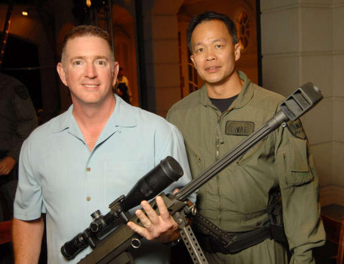 Charles Carter and SWAT team member Ed Lem