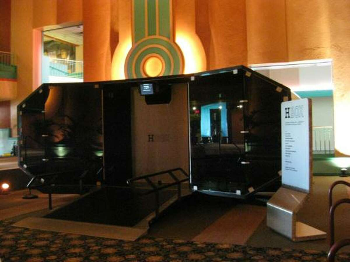 H Box, a portable screening room that is part art gallery, part cinema, will be on exhibit in the historic Alabama Theatre through Nov. 15.