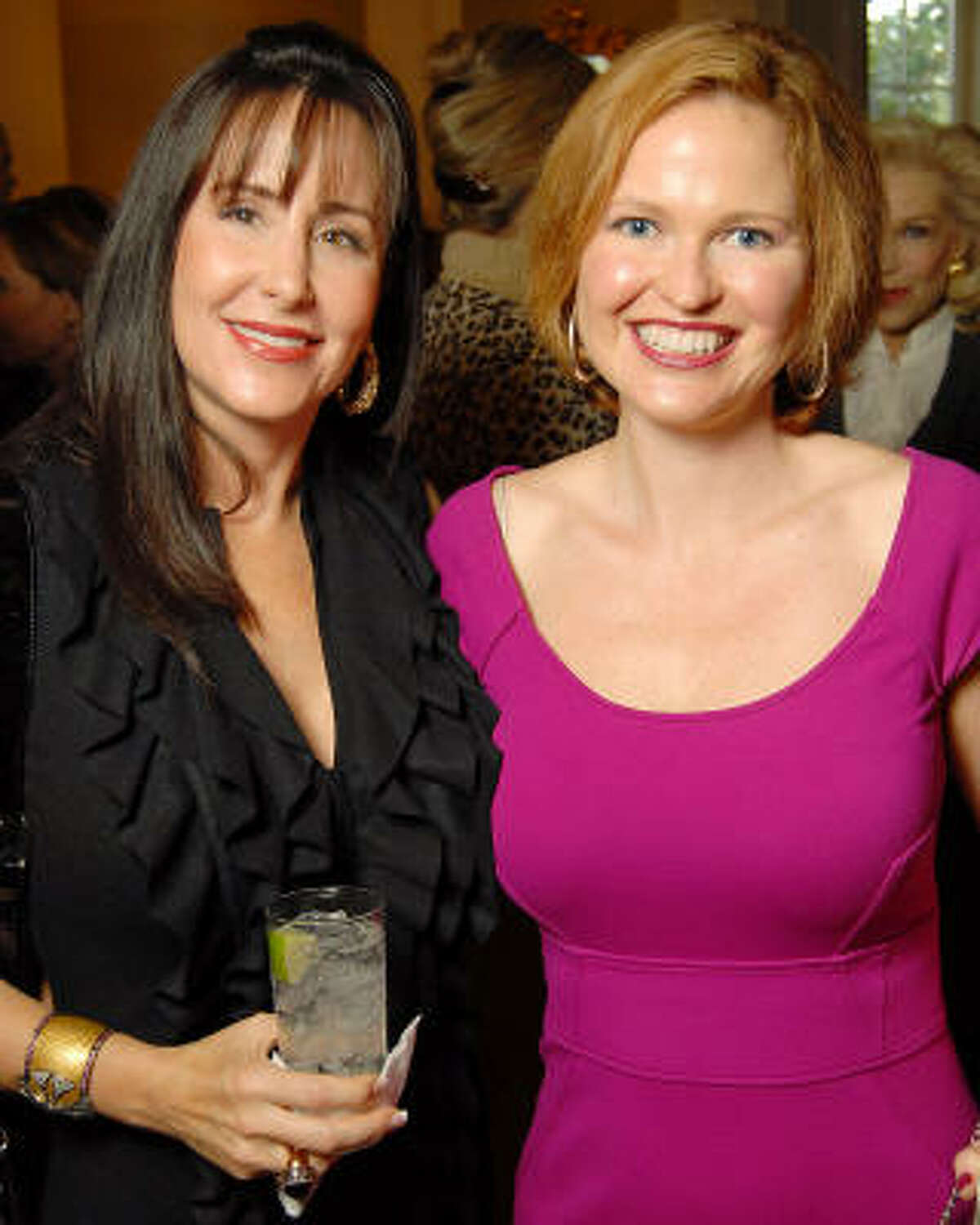 Liz Glanville and Liz Stanley at the SPA Luncheon at the River Oaks Country Club Thursday Oct. 15.