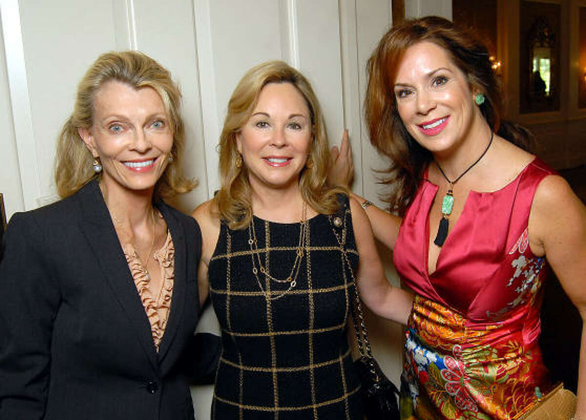 Alice Burguieres, Nancy Kinder and Cherie Flores