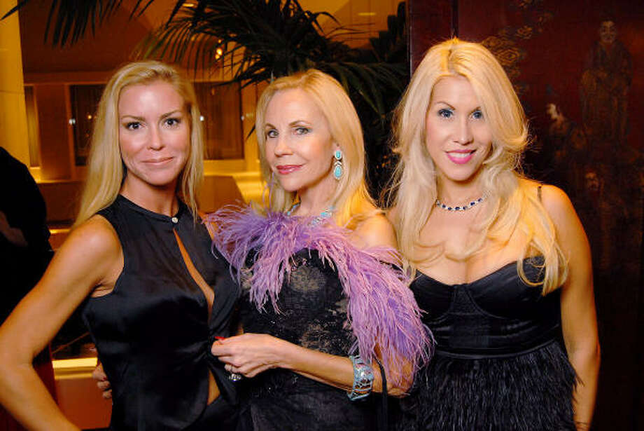From left: Heather Baker, Carolyn Farb and Leslie Tyler-Fink at the Dominic Walsh Dance Theater's Firebird Soiree at the Four Seasons Hotel Saturday Oct. 17. Photo: Dave Rossman, For The Chronicle