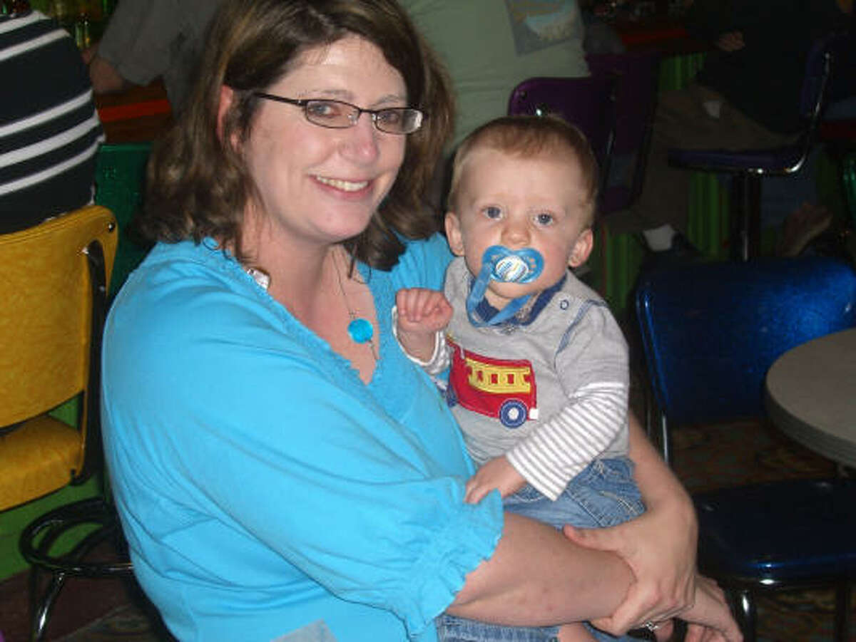 Mama Drama 's Margaret Moellenberndt with Connor