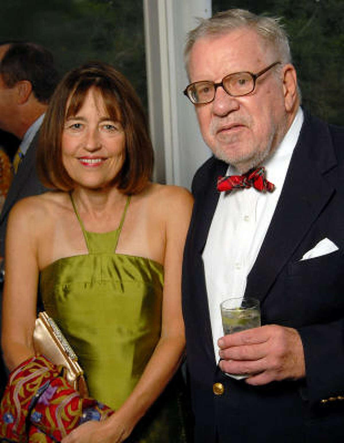 Andrea White and Bill Hobby