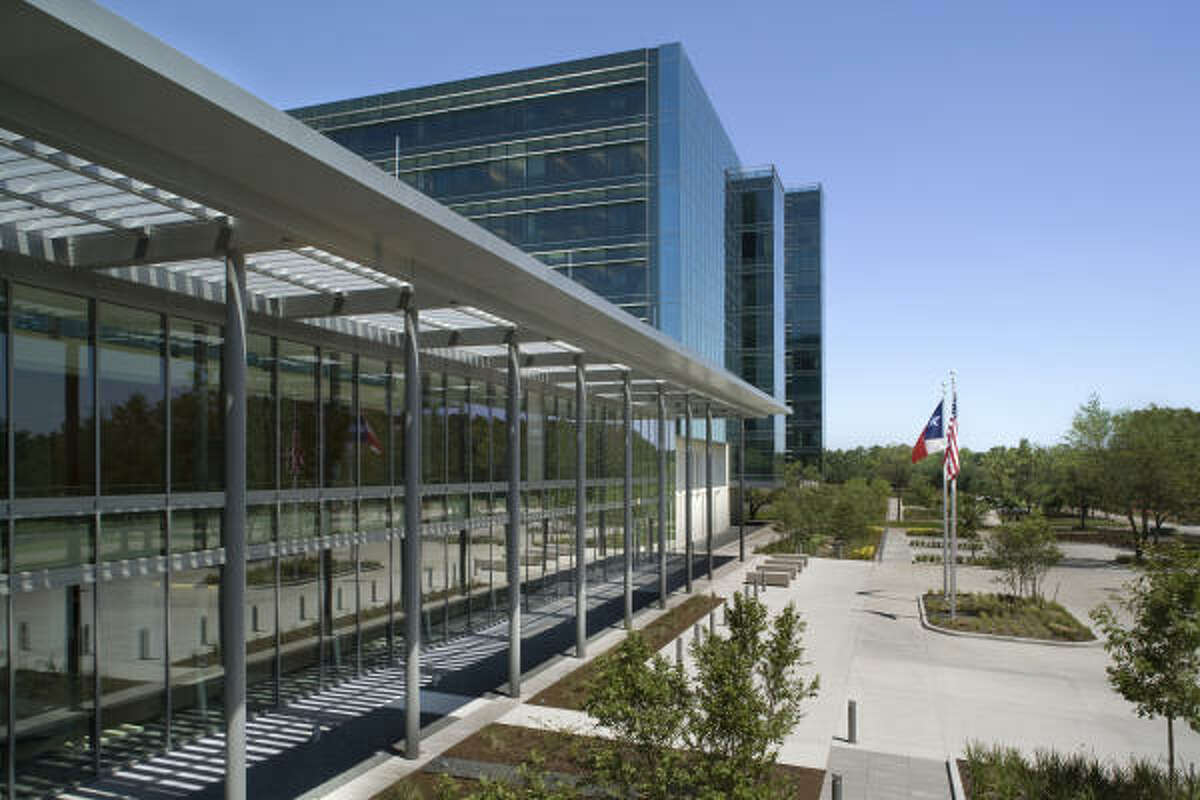 Most of the landscaping around Sysco Foods Headquarters consists of native trees and wildflowers.