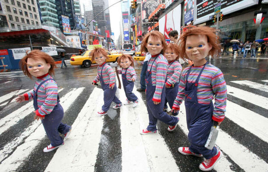 LubbockChucky from Child's Play movies Photo: DIANE BONDAREFF, AP