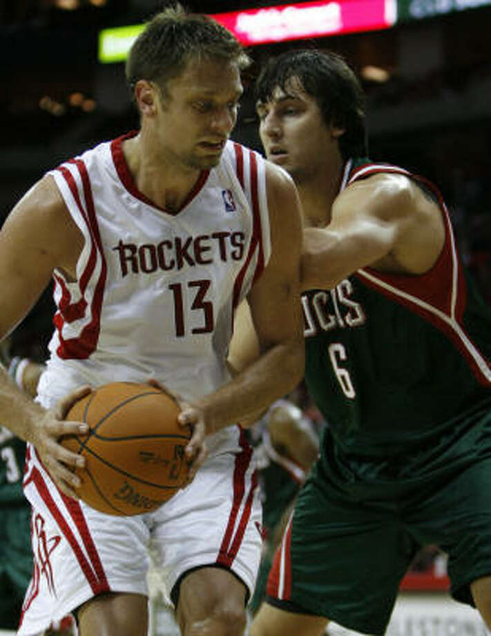 David AndersenThe rights to Andersen, who has never played a regular season game in the NBA, were acquired from the Hawks in the offseason. Seven-footer averaging double-figures in six preseason games and has pretty good shooting ability for his size. Photo: Karen Warren, Houston Chronicle