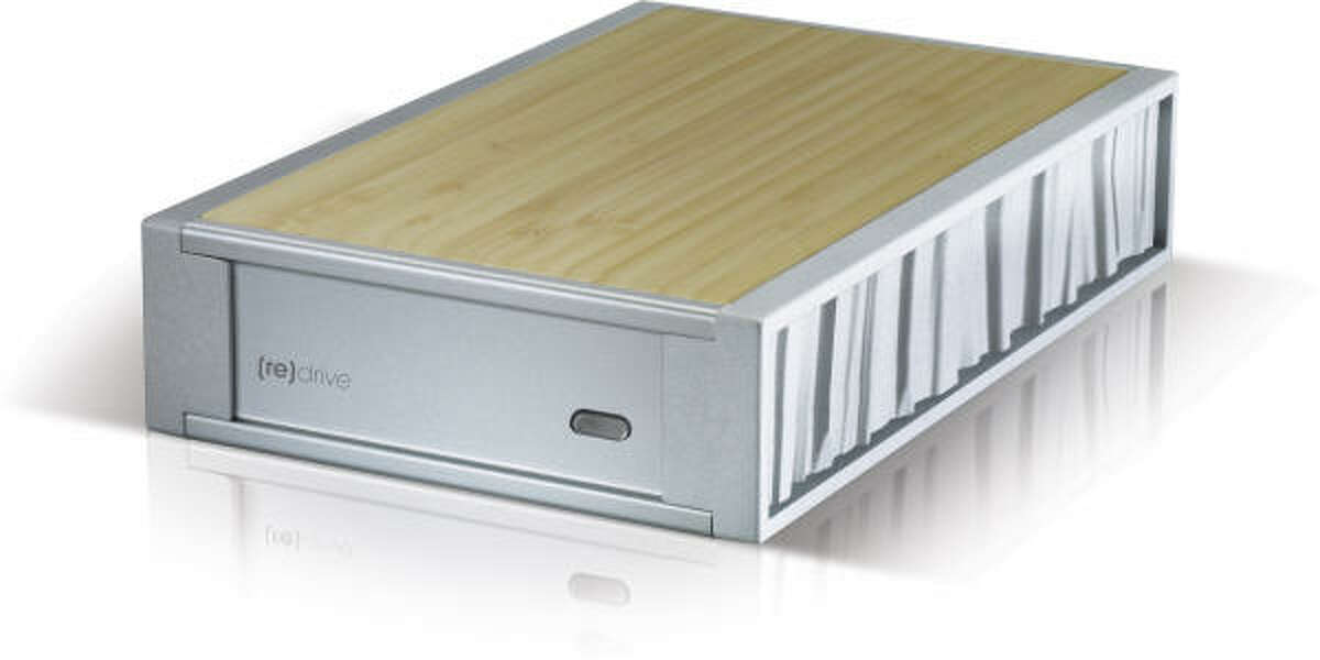 Simple Tech's [re]Drive External Hard Drive features a bamboo case made without varnish or chemicals and 100 percent recycled aluminum. It also stores up to 500GB of information and works with both Macs and PCs. About $110, at Best Buy and Circuit City stores.
