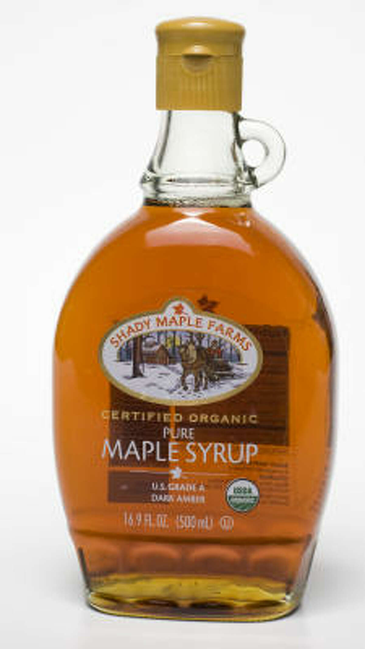 USDA-certified organic maple syrup: Shady Maple Farms maple syrup, $17.99.
