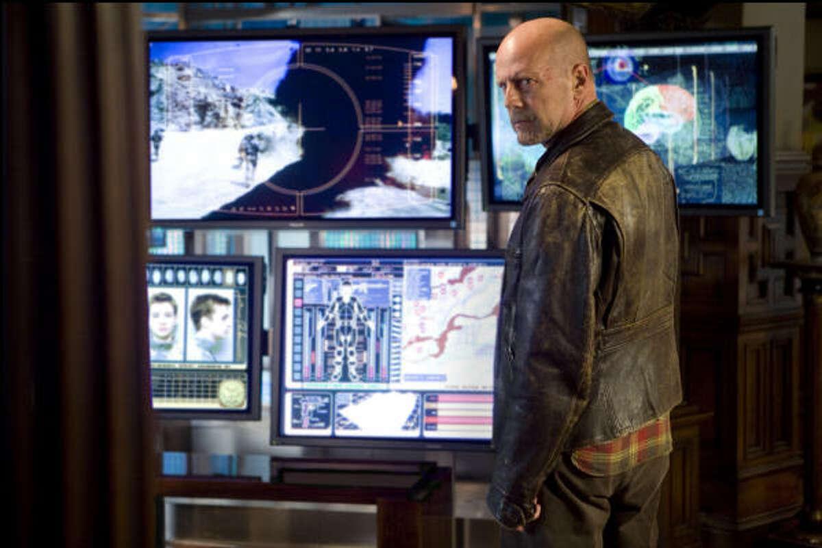 Surrogates , $xxx million Bruce WIllis plays a cop in a futuristic world.