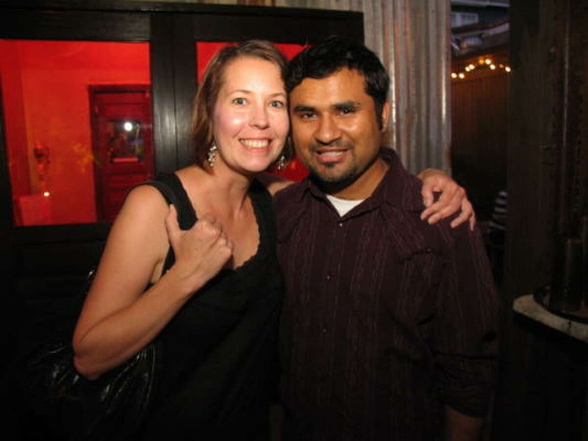 Jennifer Wood, left, and Vipul Divecha