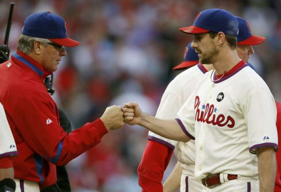 Pete Mackinan  Age: 58  Who he is:   Phillies' bench coach.  Quick fact:  Even .500 (53-53) in parts of two seasons managing Pirates, Reds. Photo: Mel Evans, AP