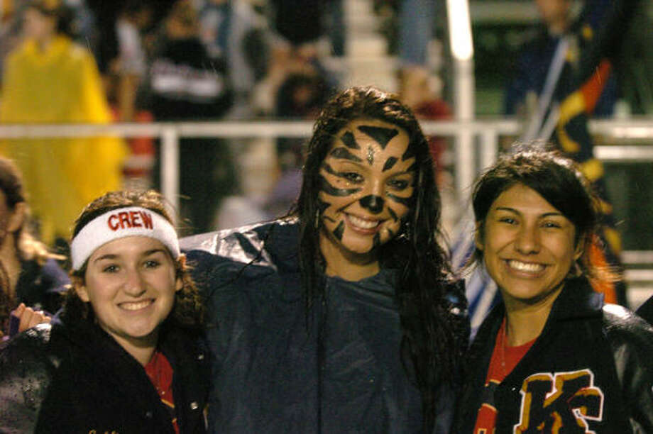 FANS AND BANDS GALLERY: Klein Collins fans Ashlie Sivley, Dusty Short and Michelle Castillo. Photo: Eddy Matchette, FOR THE CHRONICLE