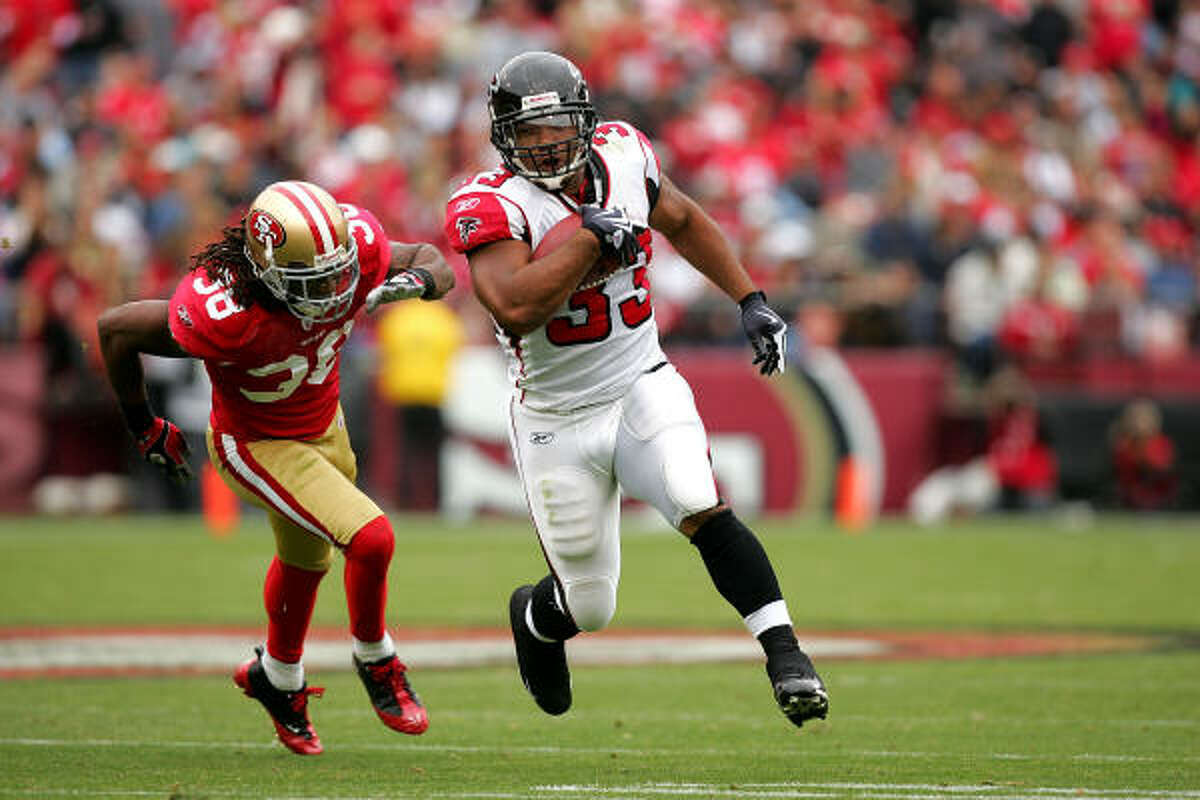 Oct. 11: Falcons 45, 49ers 10 Falcons running back Michael Turner scored three touchdowns.