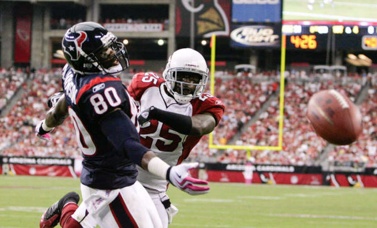 Wide receivers/tight ends Andre Johnson had 101 yards and two touchdowns. The second touchdown was Johnson at his best. Owen Daniels also had eight receptions. Kevin Walter and David Anderson combined for 10 catches. B+