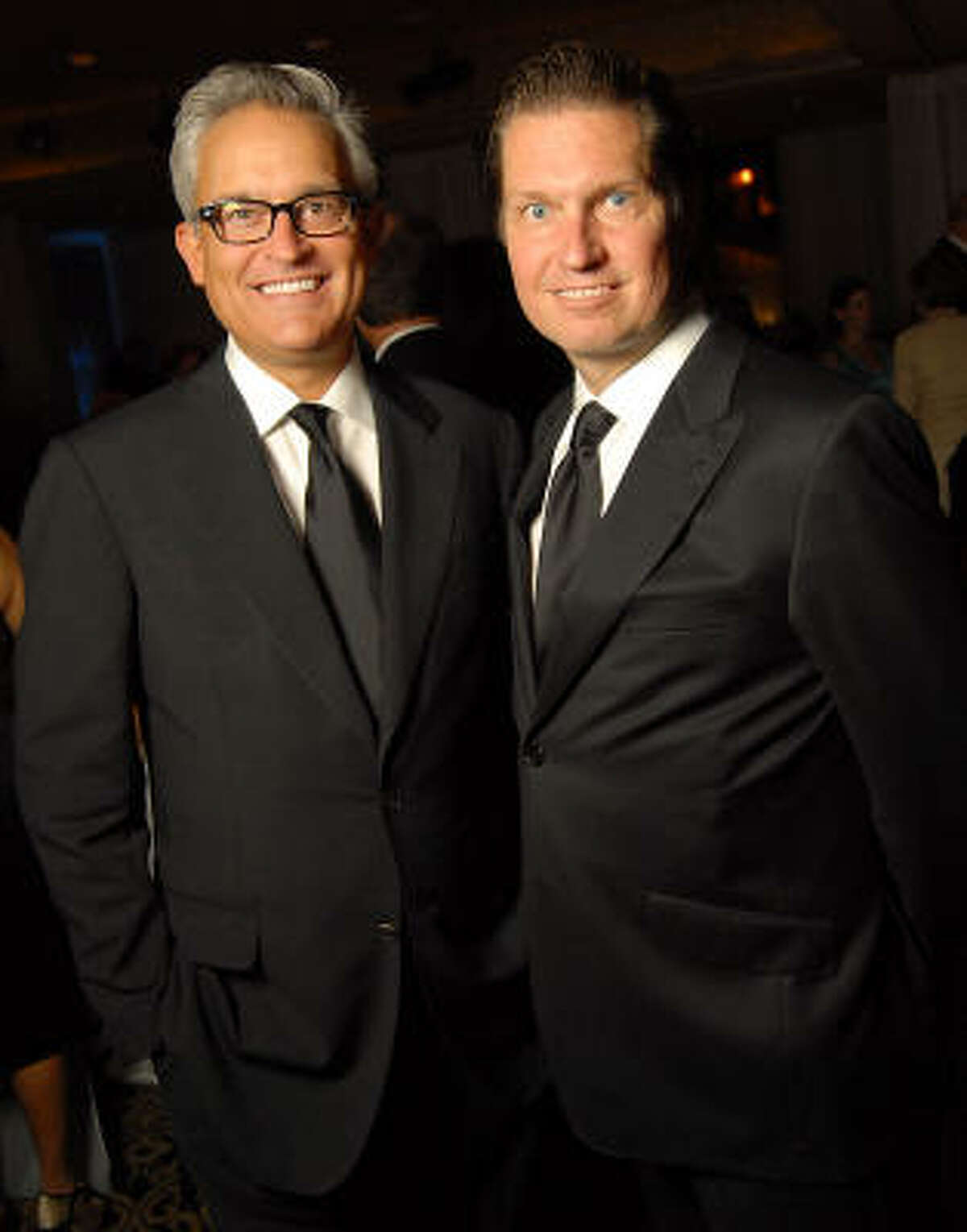 Designers Mark Badgley and James Mischka at the Catwalk for a Cure evening at the Hotel ZaZa Thursday, Oct. 08.