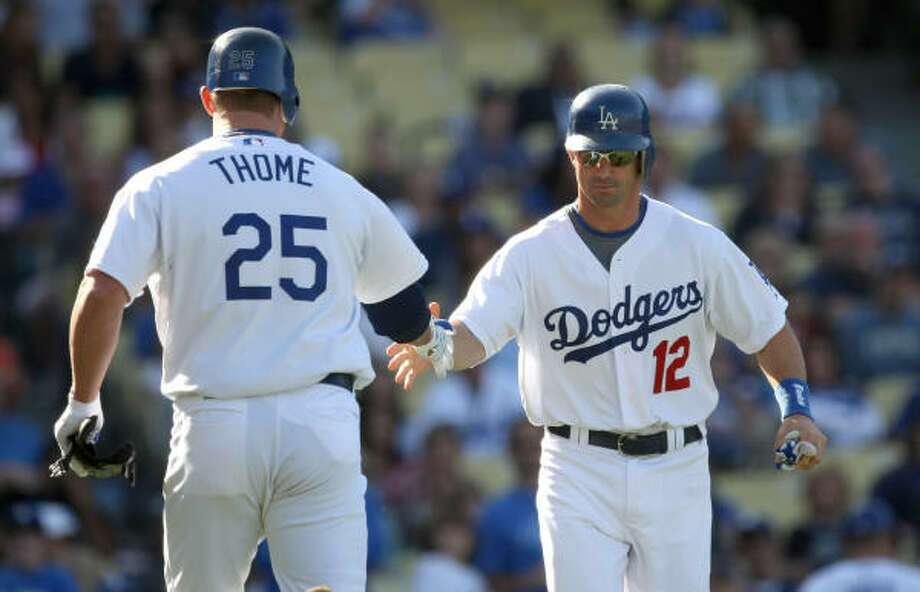 Brad Ausmus, Dodgers Then: The Astros' all-time leader in games caught in two stints (1997-98 and 2001-08) Now: Thriving offensively, by his standards, in very limited playing time, hitting .295 with a .712 OPS in 36 games. Photo: Stephen Dunn, Getty Images