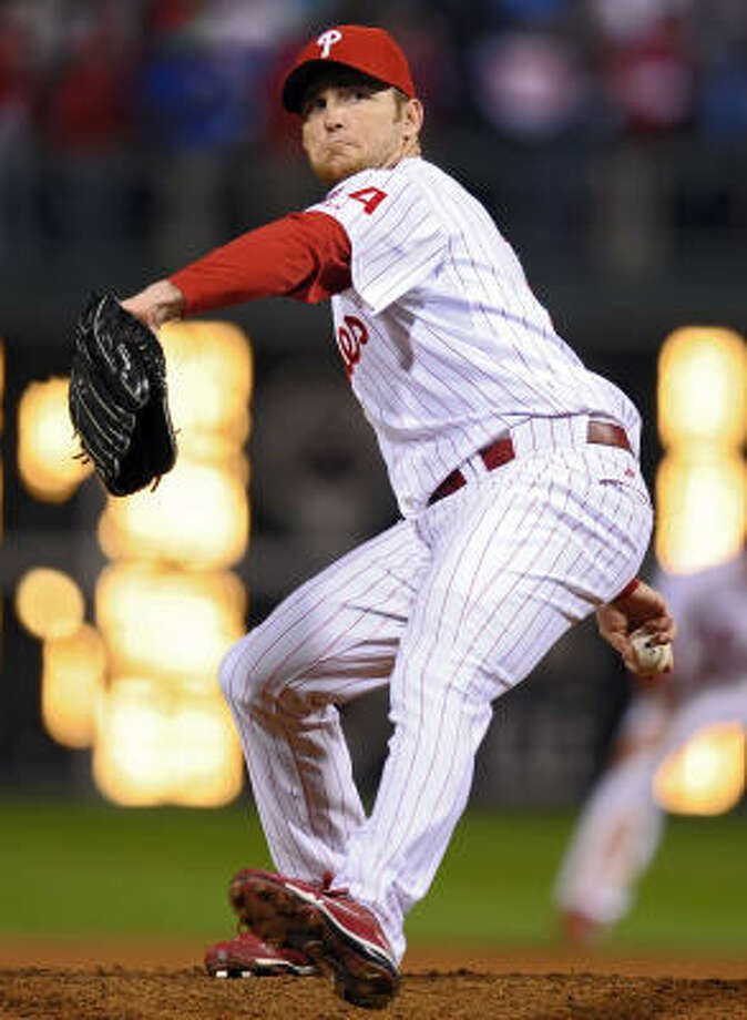 Brad Lidge, Phillies Then: One of the dominant closers in baseball but faded late in his Astros career, which lasted from 2002-2007. Now: A scary prospect for Phillies fans after his worst season, which comes a year after going 50-for-50 in saves including the postseason. Photo: Drew Hallowell, Getty Images