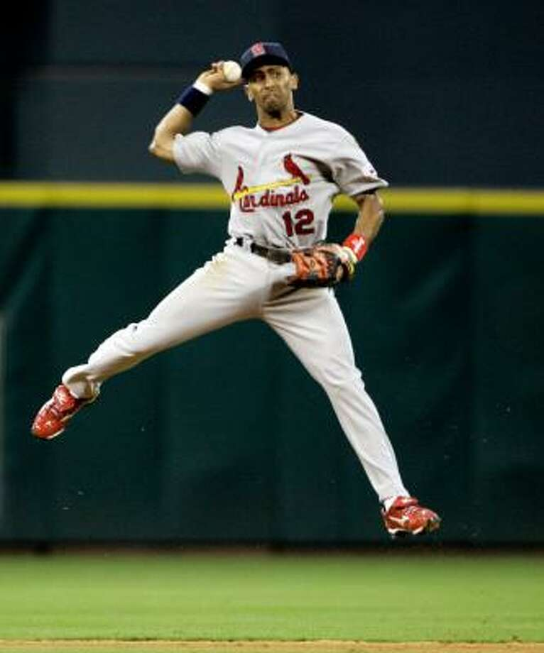 Julio Lugo, Cardinals Then: Mostly a starting shortstop at the dawn of the Minute Maid Park era (2000-2003).Now: Shook off a poor stint in Boston to make a nice recovery with the Cardinals, who acquired him mid-season. Photo: David J. Phillip, AP