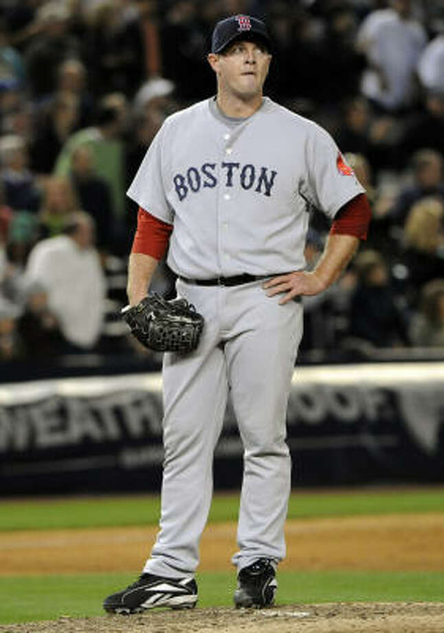 Billy Wagner, Red Sox Then: Astros' all-time saves leader in his Houston career that lasted from 1995-2003. Now: Recovered from surgery and pitching in a lefty set-up role for Boston. Photo: Bill Kostroun, AP