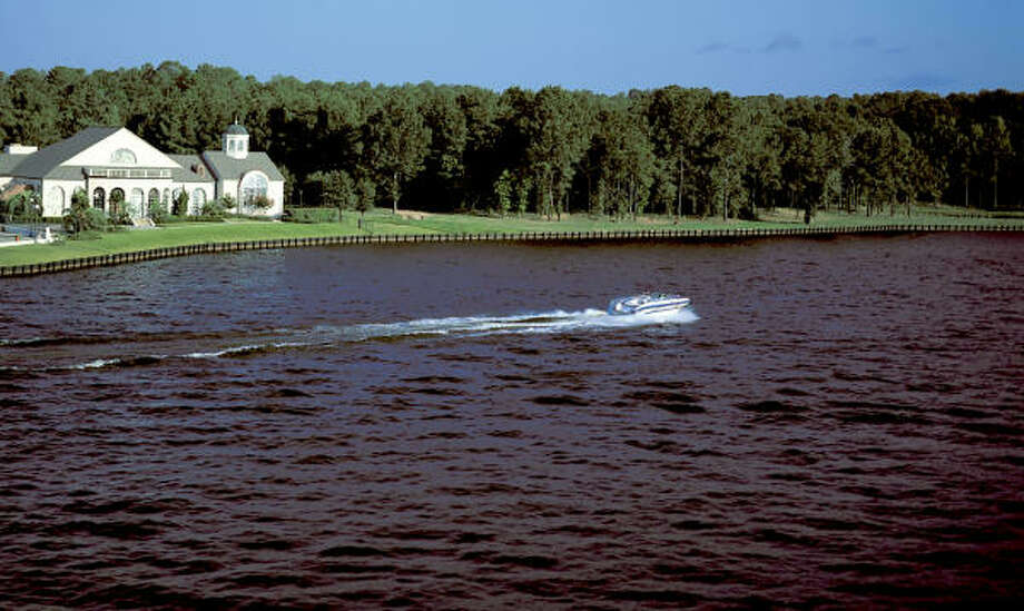Master-planned Bentwater includes 12 miles of shoreline on Lake Conroe.