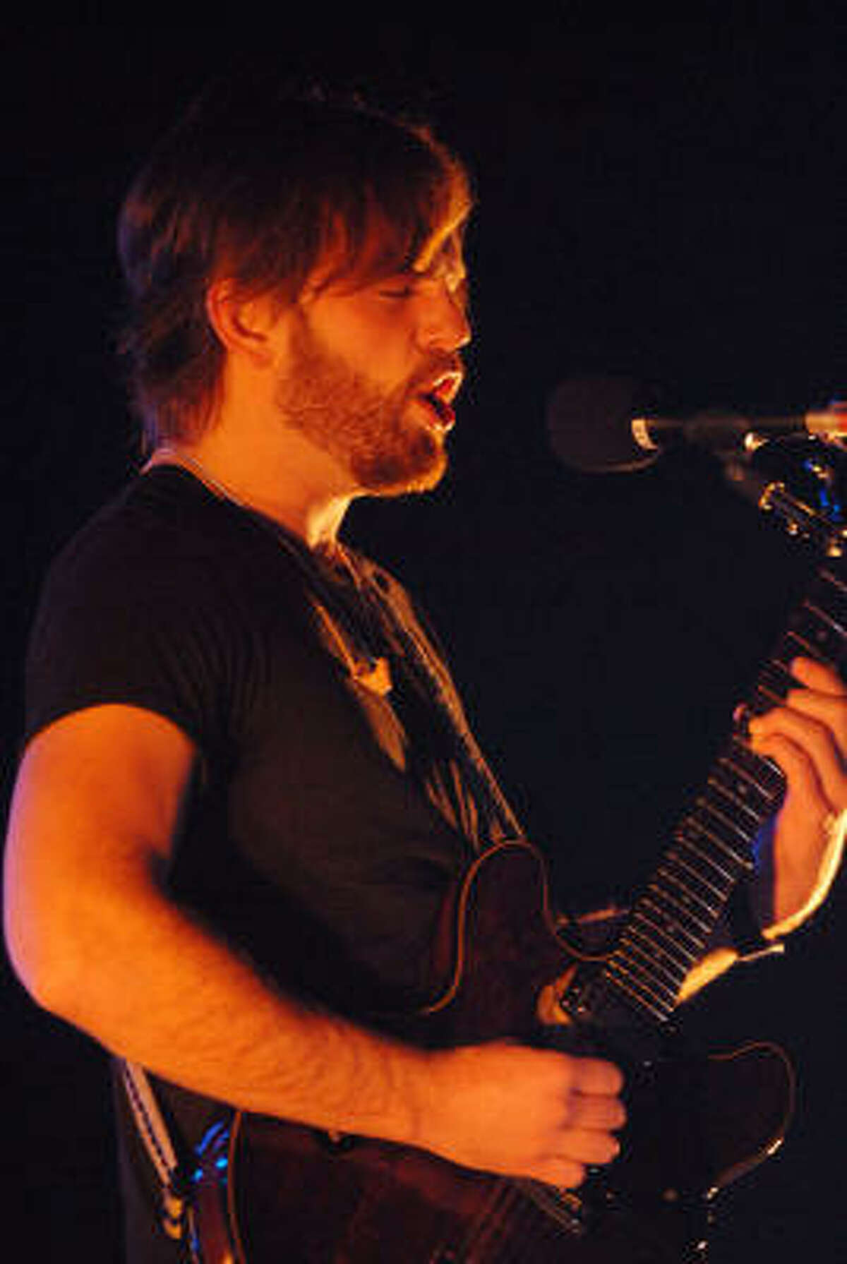Lead singer Caleb Followill and the Kings of Leon perform at the Toyota Center Tuesday.