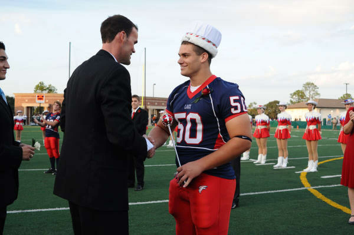Nathaniel Otto is crowned homecoming king.